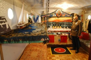 Михаил Мастрюков в каюте лодки