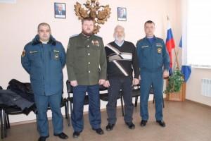 Встреча казаков с руководством Учебного центра МЧС
